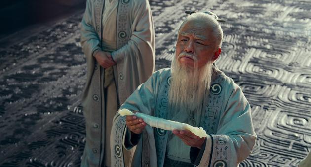 姜子牙(黃渤飾)龍德殿獻封神榜