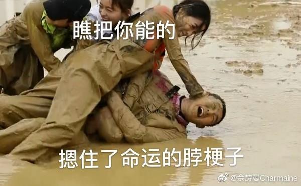佘詩曼把王彥林按泥裏表情包