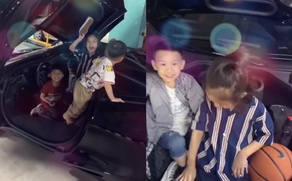 陳建州大方把千萬超跑當娃娃車讓小朋友們玩。