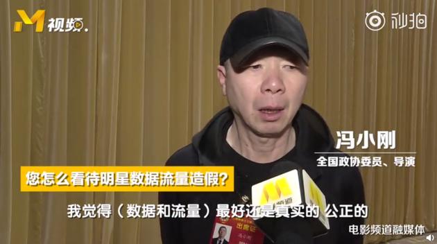 冯小刚接受采访