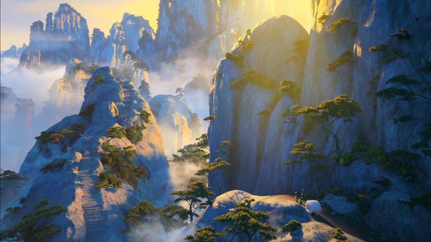 《雪人奇緣》中的黃山