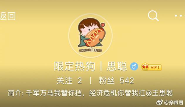 王思聪也拥有了首个个人网站。