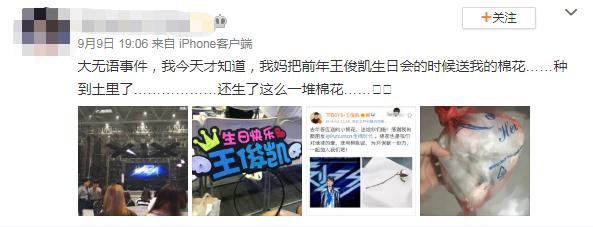 王俊凯粉丝发文