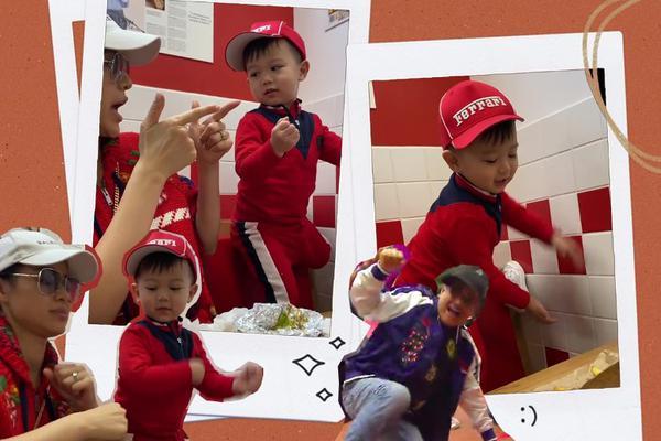 组图:胡杏儿带儿子吃快餐 Brendan站椅子上跳舞呆萌可爱