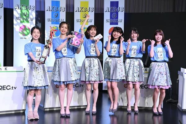 组图:AKB48举办在线手游比赛 TeamB成员获得优胜