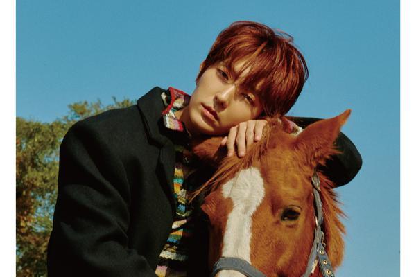 李准基济州岛拍杂志写真 与骏马同框帅气养眼