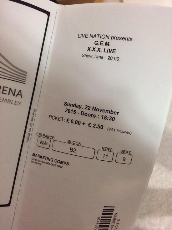 邓紫棋演唱会票价0英镑,但加税2.5英镑