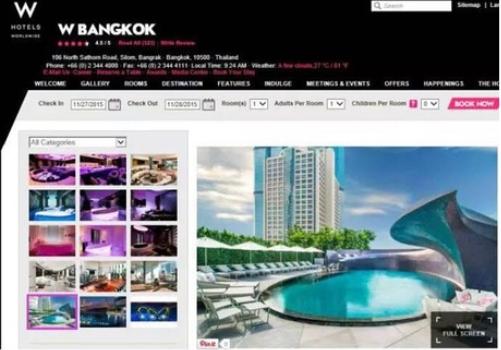 泰国曼谷W酒店官方图和王凯晒的一模一样
