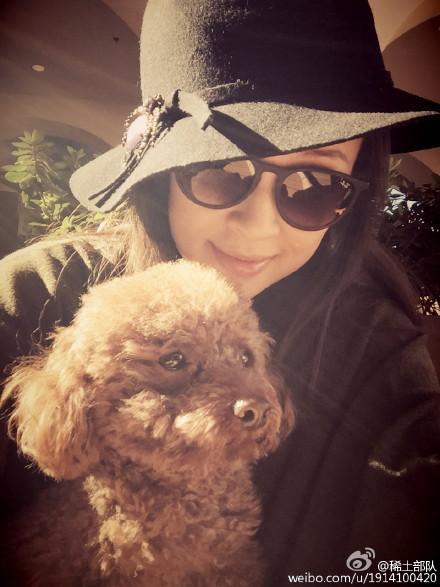 章子怡和爱犬