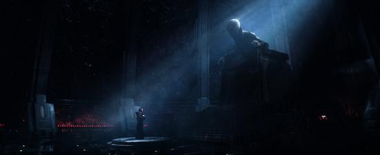 至尊领袖斯诺克(Supreme Leader Snoke)会见凯洛·任(Kylo Ren)