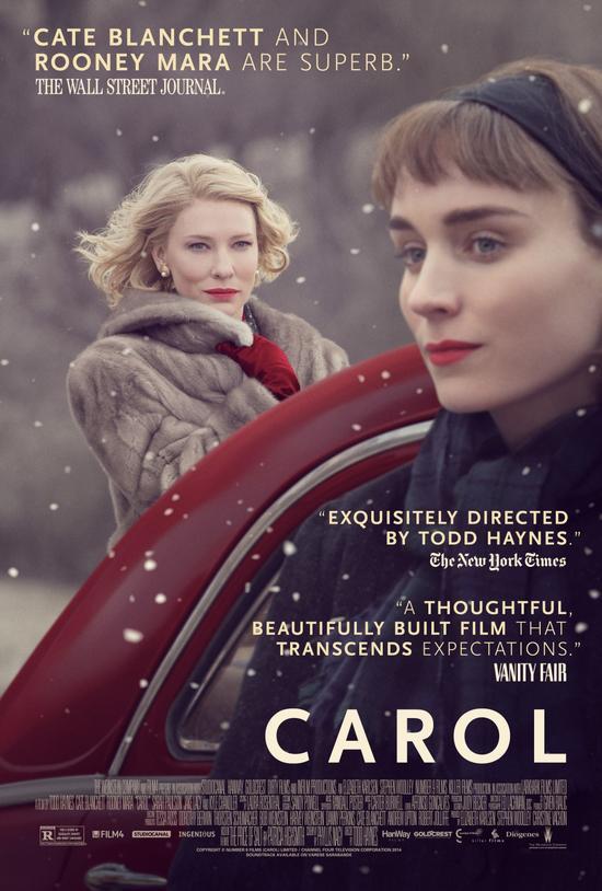 唯美的『卡罗尔』没有入围最佳影片和导演
