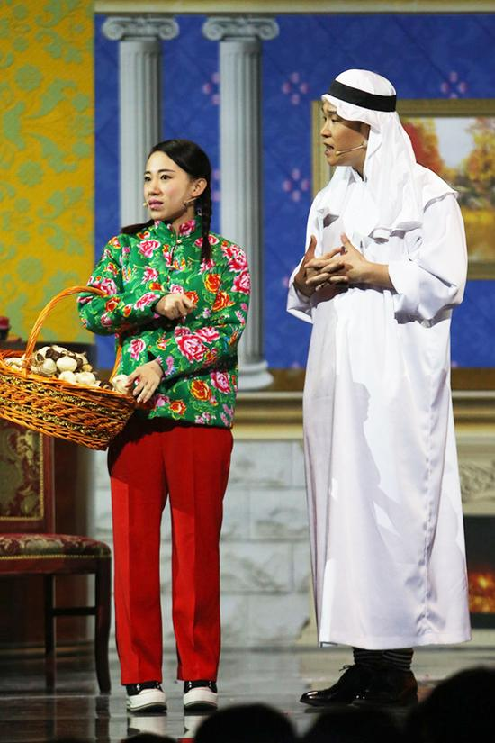 《欢乐喜剧人》第二季丫蛋、小沈阳再聚舞台(最新剧照)