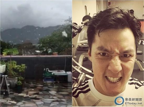 吴彦祖分享香港下雪