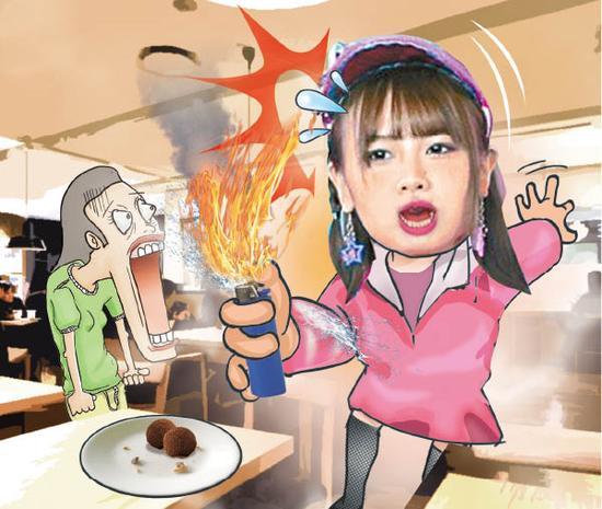 唐安琪玩弄打火机时疑似洩漏燃料致全身着火。