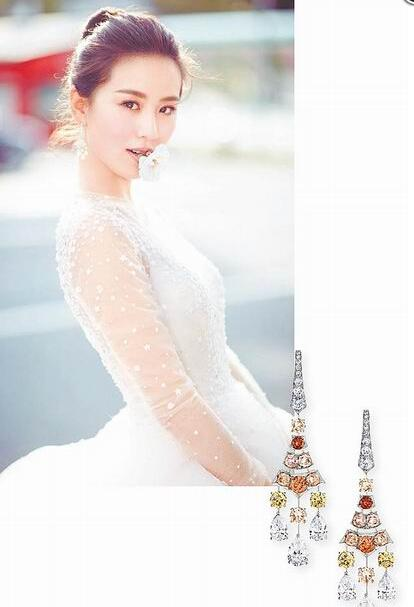 刘诗诗婚纱照戴的耳环价值58.5万