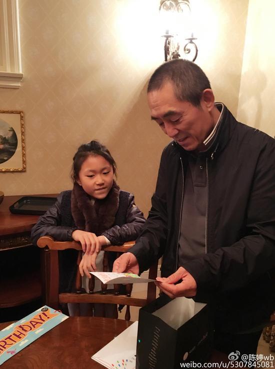 张艺谋和女儿