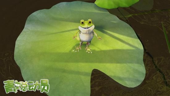 小青蛙打招呼