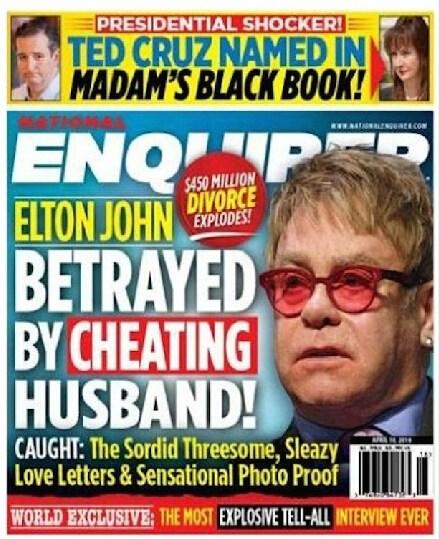 英已婚同志男星艾尔顿·约翰陷性丑闻,伴侣与人3P