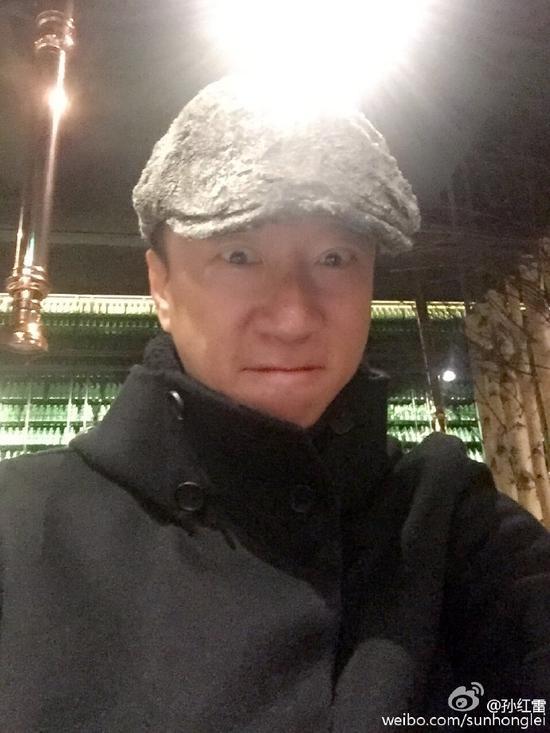 """""""颜王""""孙红雷吃午饭"""