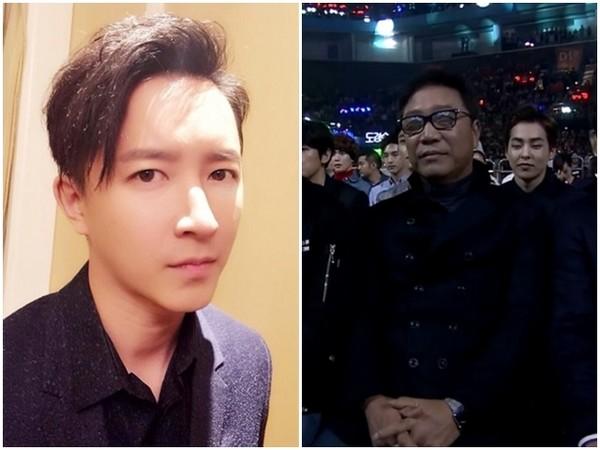 韩庚和SM公司老板李秀满
