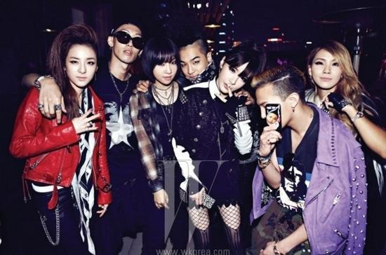 与众多YG艺人一起