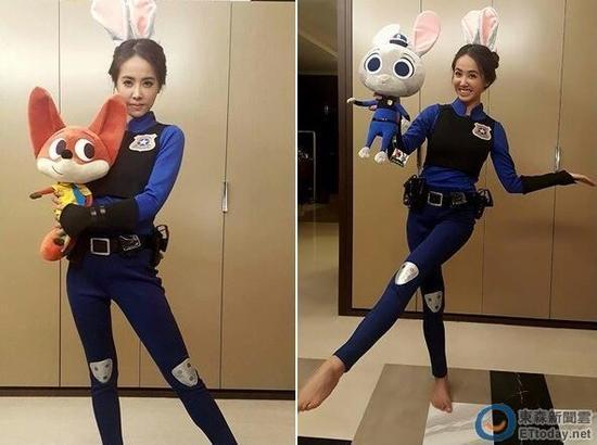 蔡依林穿制服扮兔警官