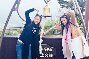 结伴游日本 林心如贴心为舒淇整理背包