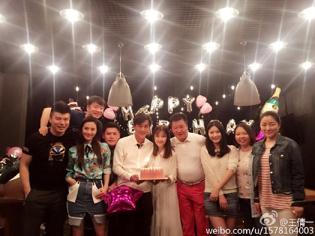 乔振宇为老婆庆生