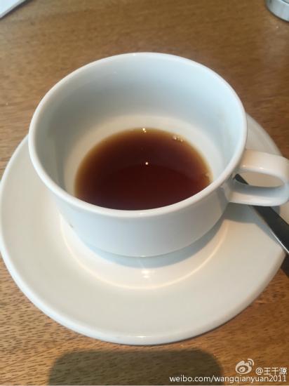 王千源晒咖啡早开工