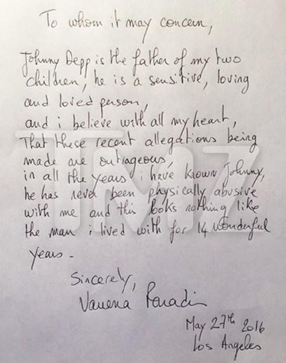 凡妮莎发亲笔信
