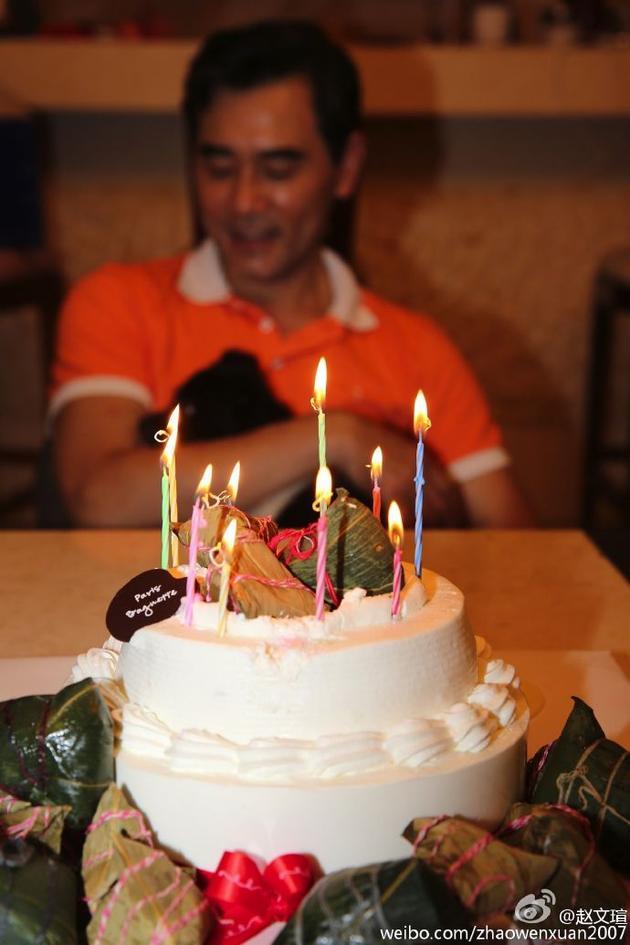 赵文瑄晒出自己的粽子蛋糕