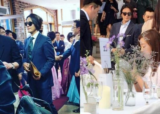 裴勇俊出席朋友婚礼