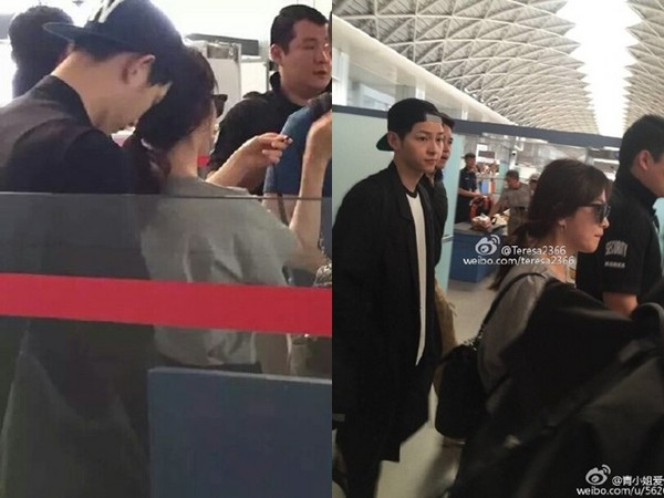 宋仲基包机送宋慧乔回家,在机场也一路跟紧保护。