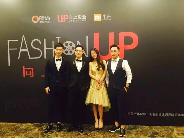 从左至右:青年演员冯博与向上影业创始人、CEO肖飞,新生代演员曾梦雪,著名演员李世鹏