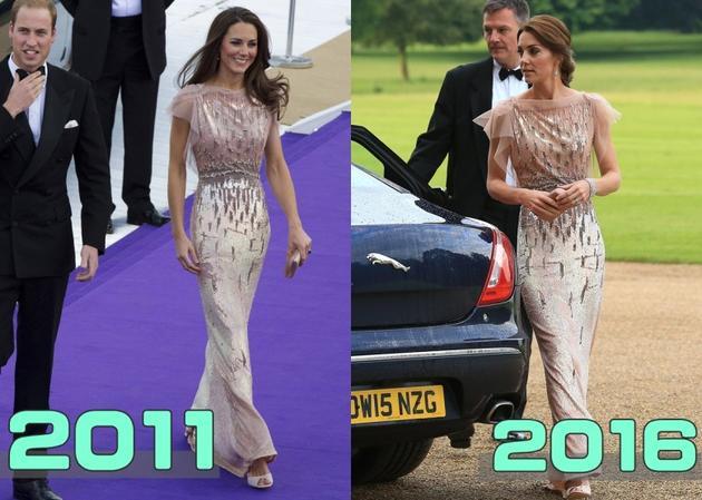 英国王妃穿五年前旧衣服性感高贵