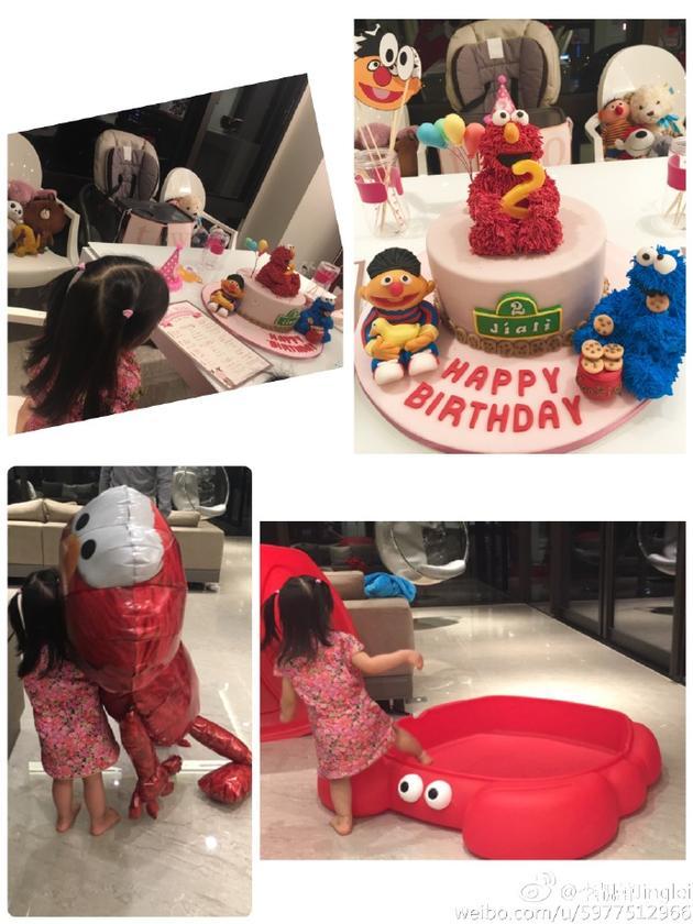 王力宏与李靓蕾的大女儿两岁啦