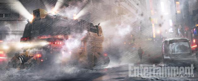 《银翼杀手2》概念艺术:街上的除雪车