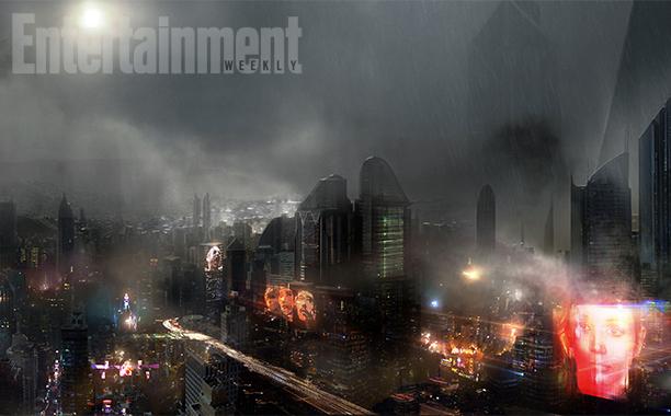 《银翼杀手2》概念艺术:未来洛杉矶黑暗潮湿