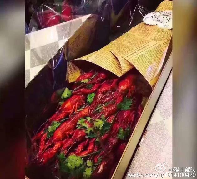 小龙虾花束