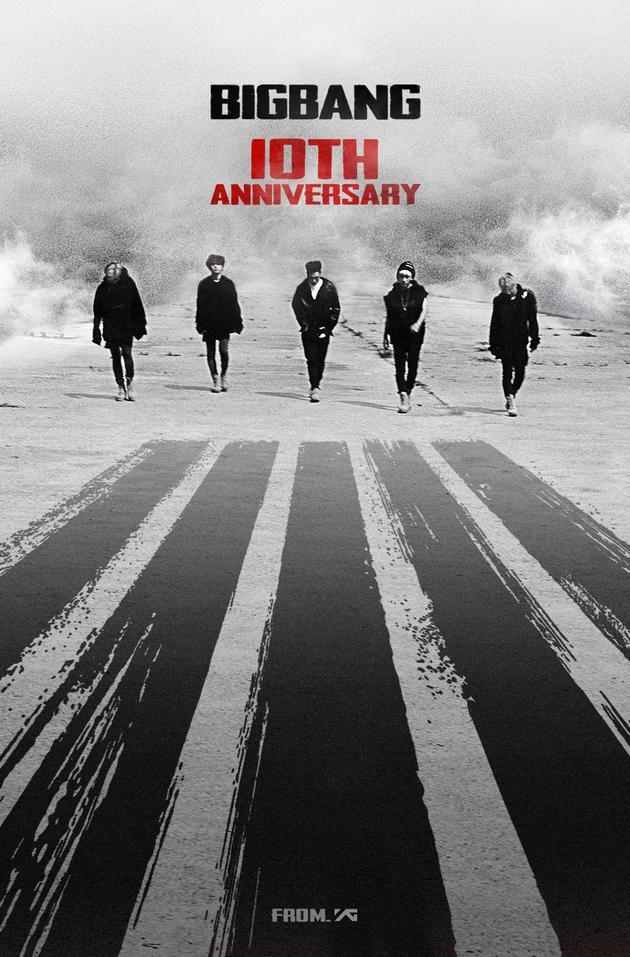 BigBang出道十周年 祝贺照5成员大步向前