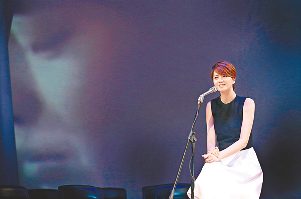 梁咏琪台湾5小时拍完两首MV 一度感动落泪