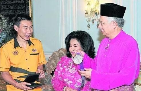 马来西亚总理和总理夫人接见李宗伟