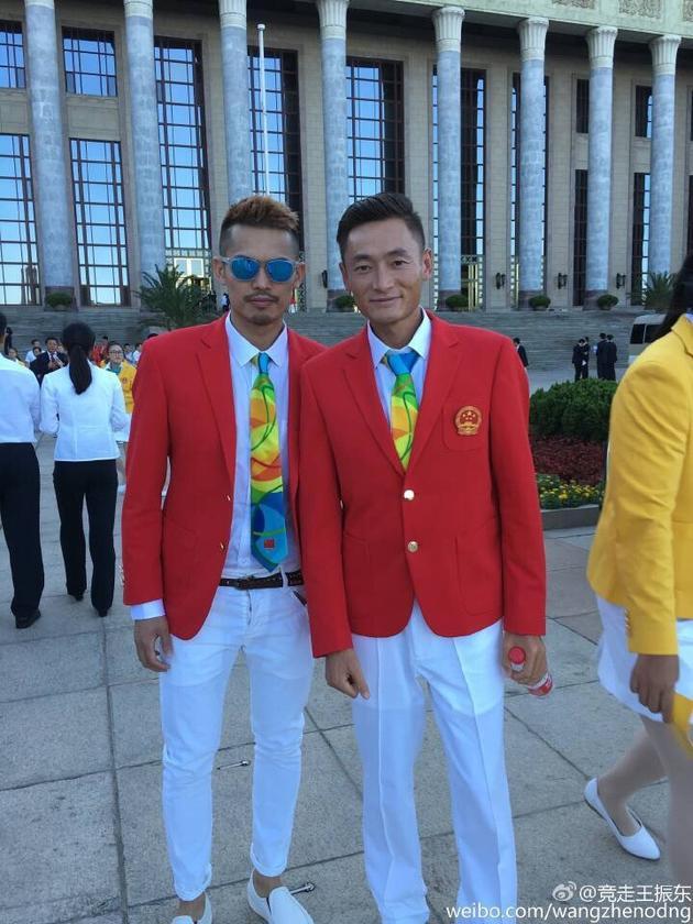 林丹、王振东参加里约奥运会中国代表团总结大会