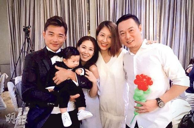 黄长兴两夫妻为儿子搞百日宴,陈敏之与老公一起出席。