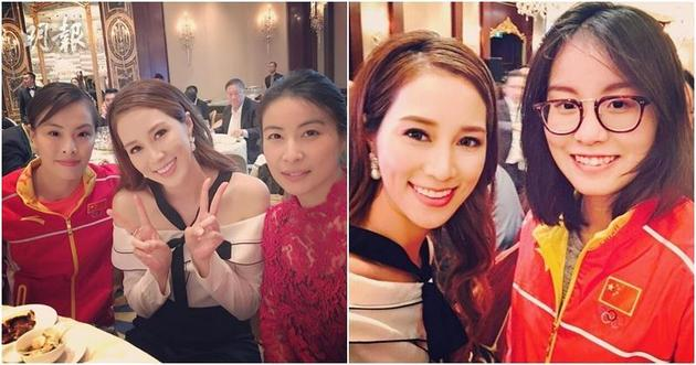 徐子淇向来爱看运动节目,当然化身小粉丝,跟一众中国运动员集邮!