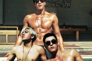 何润东巴厘岛开单身派对 裸上身秀肌肉