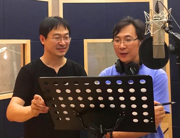 廖昌永为央视国庆晚会录制歌曲 召唤
