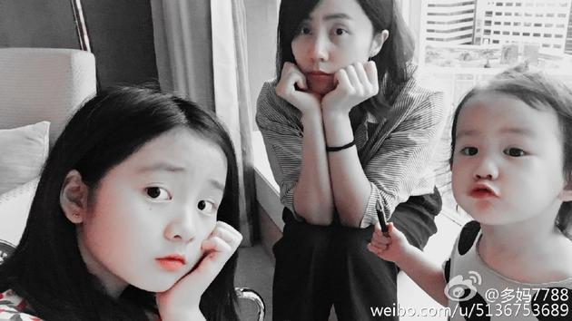 孙莉与两女儿