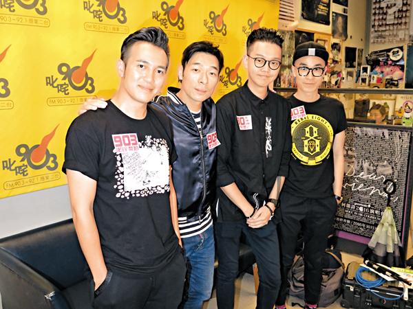 许志安和乐队Dear Jane宣传新歌