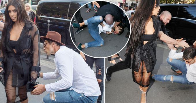卡戴珊遭性骚扰抱大腿 涉事男子被殴在地